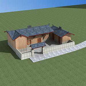 特色彝族民居模型3d模型