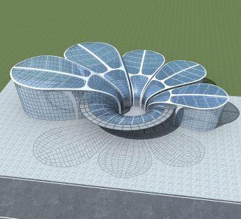 花瓣式创意博物馆