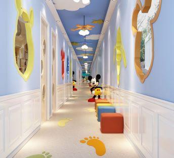 米奇创意主题幼儿园走廊