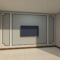电视墙背景墙3d模型
