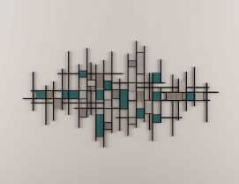 新中式墙饰挂件模型