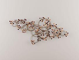 新中式圆环形墙饰挂件模型