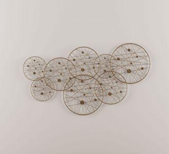 新中式重叠圆形墙饰挂件
