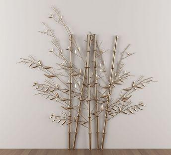 新中式金属竹子墙饰挂件