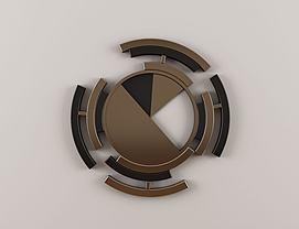 新中式圆形墙饰挂件模型