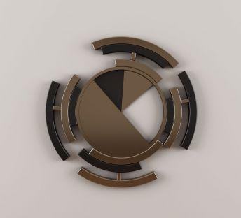 新中式圆形墙饰挂件