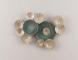 新中式墙饰花式挂件模型