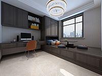 中式榻榻米卧室书桌书柜3d模型