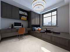 中式榻榻米卧室书桌书柜模型3d模型