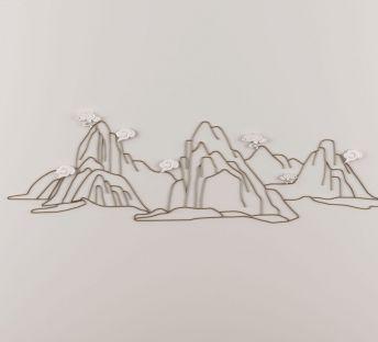 新中式高山墙饰挂件