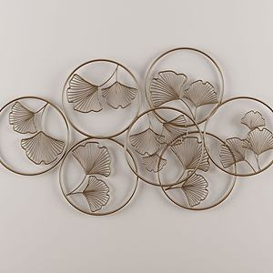 圓形外圈花枝內飾墻飾掛件模型3d模型