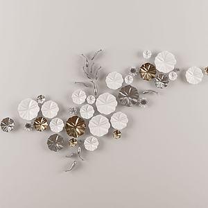 花魚墻飾掛件陳設飾品模型3d模型