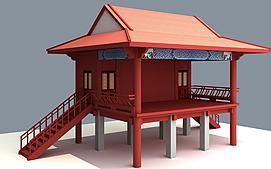 古建戏台模型