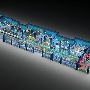 海洋风格乐园游乐设备模型3d模型