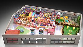 英伦风格儿童主题乐园模型