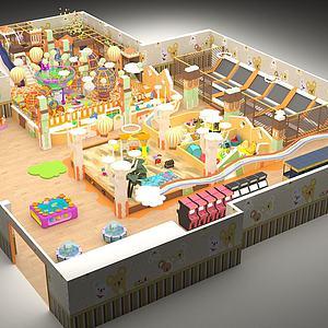 电玩游乐园儿童主题乐园模型3d模型