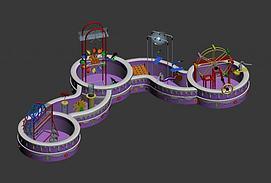 ?#20113;?#22561;水动力儿童电动设施模型