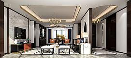 新中式风格客厅小鸟摆件模型