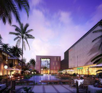 室外建筑商业广场精品水池