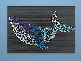 鲸鱼绕线画?#19968;?#22681;饰模型