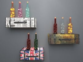 皮箱酒瓶装饰灯模型