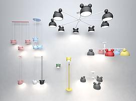 米奇灯具组合模型