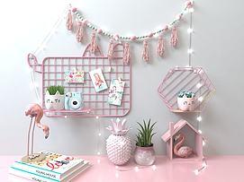 粉红置物架墙饰模型