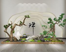 假山园林景观园艺小品模型