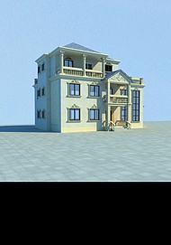 欧式别墅模型