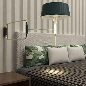 活动式床头灯模型