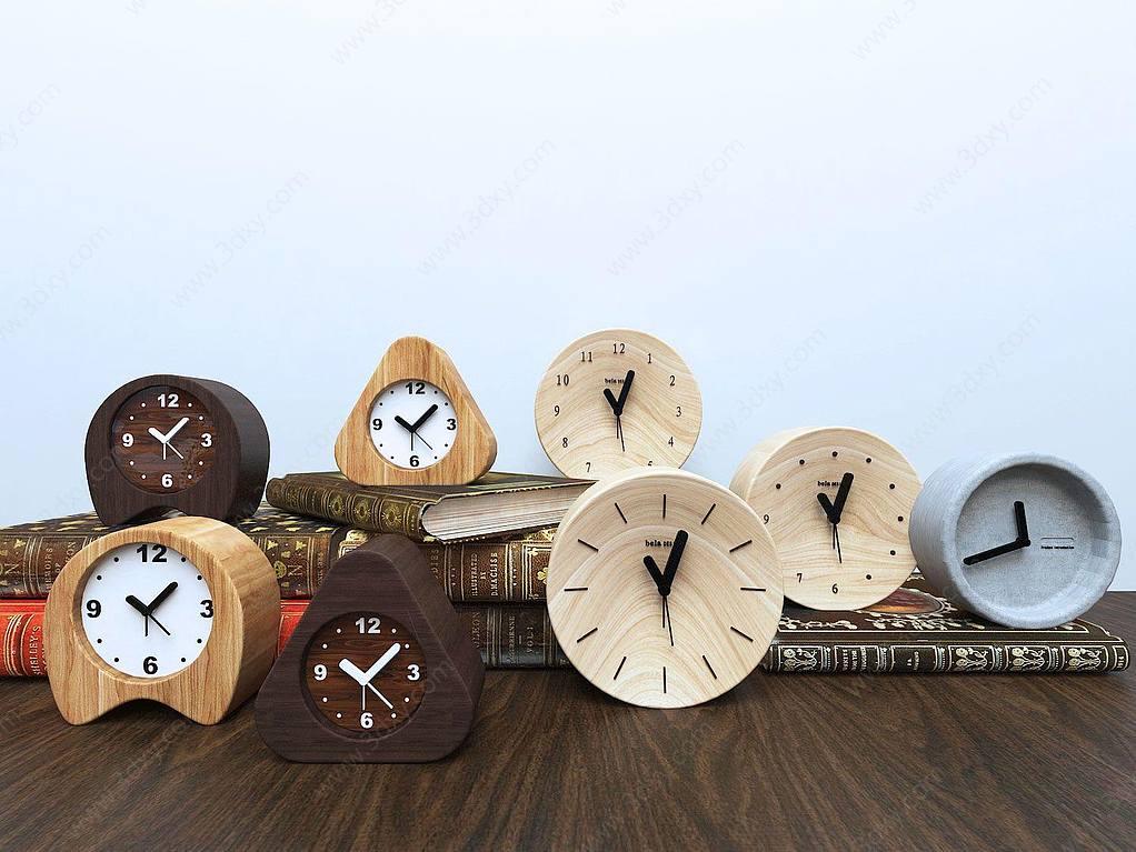 各式現代鬧鐘鐘表組合