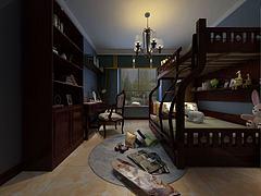?#30340;?#20799;童高低层卧室模型3d模型