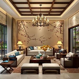 東南亞風格組合沙發茶幾模型3d模型