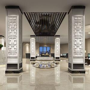 酒店大廳大堂模型3d模型