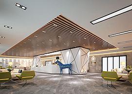 现代前台服务台大厅马雕塑模型