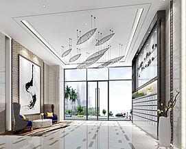 公寓大堂公共区域模型