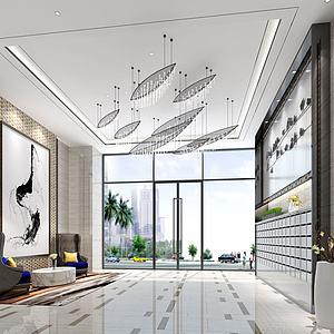 公寓大堂公共區域模型3d模型