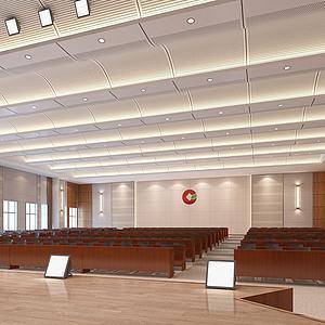 會議室報告廳禮堂3d模型