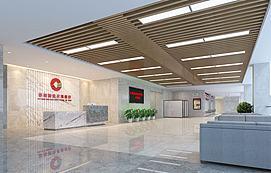 银行前台业务台接待厅模型