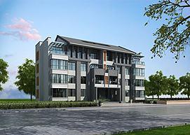 中式建筑养老院养老公寓模型
