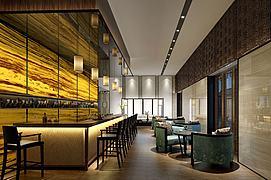 酒吧吧台会客厅模型