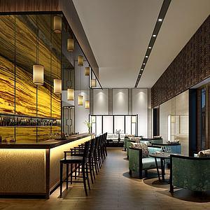 酒吧吧臺會客廳模型3d模型