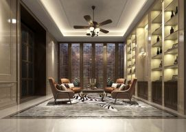 中式会客厅品酒区模型