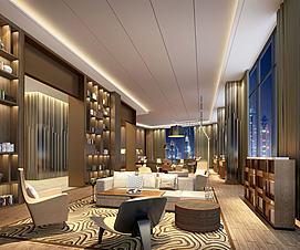 中式客厅待客厅接待厅模型