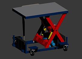升降工程车模型