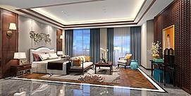 欧式起居室卧室模型