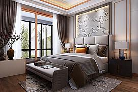 后现代主卧室模型