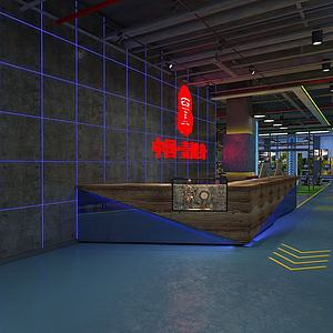 動感單車健身房模型3d模型