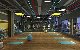 体操房瑜伽室模型