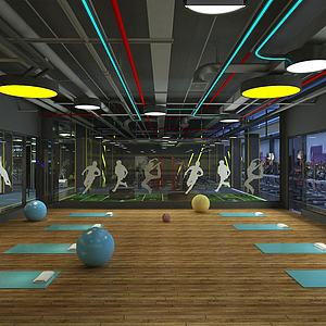 體操房瑜伽室模型3d模型